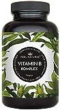 Vitamin B Komplex Kapseln. Besonders hochdosiert (10x). 180 vegane Kapseln im 6 Monatsvorrat. Mit bio-aktiven Vitamin B-Formen. Ohne Zustze. Hergestellt in Deutschland