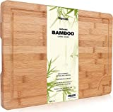 Premium Schneidebrett aus Bio Bambus von Harcas....