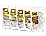 Dr. Almond Low Carb Paleo Keto Brot Backmischungen PROBIERPAKET 'Unsere Brotklassiker' glutenfrei sojafrei (5 Sorten)