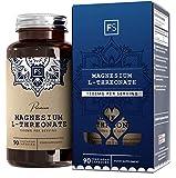 FS Magnesium L Threonate Hochdosiert 1500mg pro Portion   90 Vegane Kapseln   Threonat mit Keine Füllstoffe & Bindemittel  Allergen und Gluten Frei   Hergestellt in ISO-Zertifizierten Betrieben