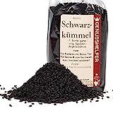 Schwarzkümmel, 100 Gramm ganz, leicht scharfe schwarze Sesamsamen, ohne Zusatzstoffe, ohne Geschmacksverstärker - Bremer Gewürzhandel