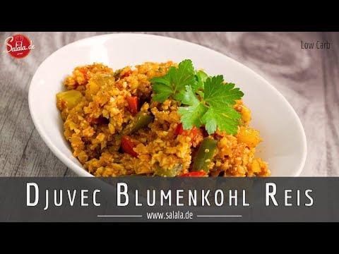 So hast Du Djuvec Reis noch nie gekocht! Natürlich Low Carb Rezept aus Blumenkohlreis