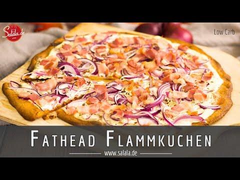 Flammkuchen mit Fathead Teig ohne Mehl und glutenfrei Low Carb Rezept