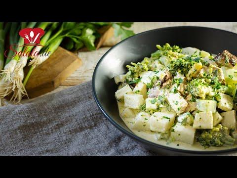 7 Tassen Salat mit Brokkoli I Low Carb und Keto Rezept