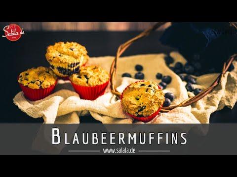 Blaubeermuffins ohne Mehl und ohne Zucker selber backen I Low Carb Rezept