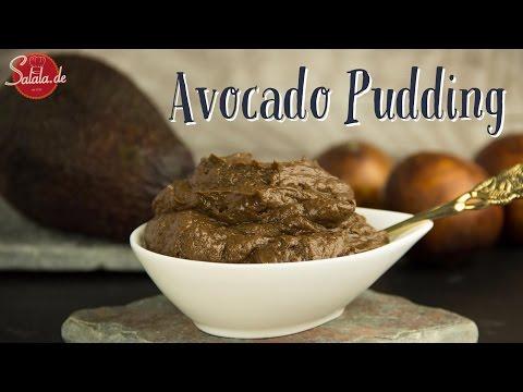 Avocado Pudding vegan - Schokopudding Low Carb Nachspeise salala.de