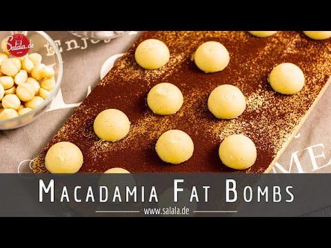 Macadamia Kokos Fat Bombs Rezept für Keto und Low Carb
