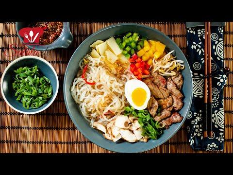 Keto Ramen Style 🍜 Konjak Nudelsuppe mit Shileo Nudeln I Keto Rezept