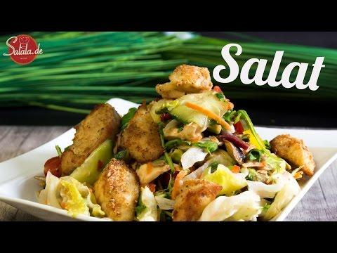Salala Style Salad oder einfach großer Salat mit Hähnchen - salala.de - Low Carb