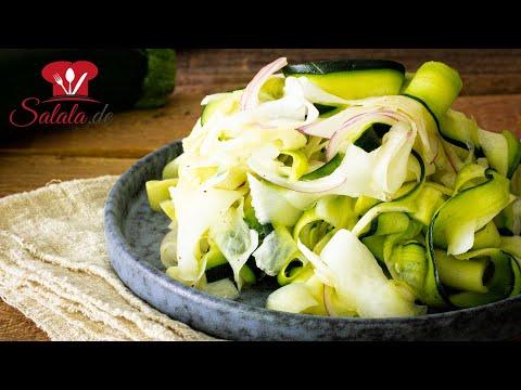 Zucchini-Rettich-Salat mit einfacher Vinaigrette I perfekt zum Grillen I Low Carb Rezept