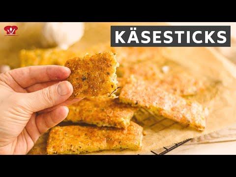 Käsesticks aus 3 Zutaten 🧀 // KETO Rezept // Snack mit nur 1 g KH pro Stück!
