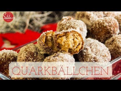 Quarkbällchen selber machen - Gebäck glutenfrei - Low Carb backen zuckerfrei - salala.de