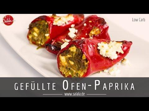 So machst Du extrem leckere gefüllte Ofenpaprika - Low Carb Rezept - als Hauptgericht