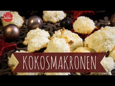 "Kokosmakronen backen - Low Carb backen glutenfrei - salala.de - ""Wir backen Plätzchen"""