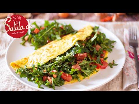 Omelette mit Rucola und Tomate lecker und schnell selber machen I Low Carb Rezept