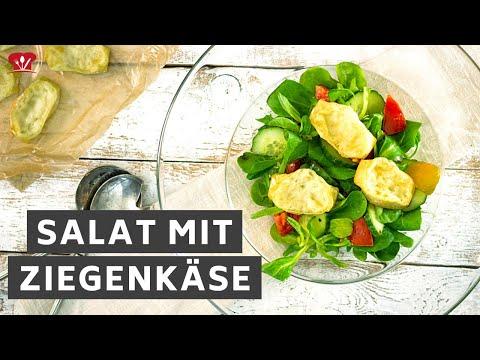 Salat mit Ziegenkäse 🥗 // KETO Rezept // mit Salatsoße ohne Zucker // Low Carb Abendessen