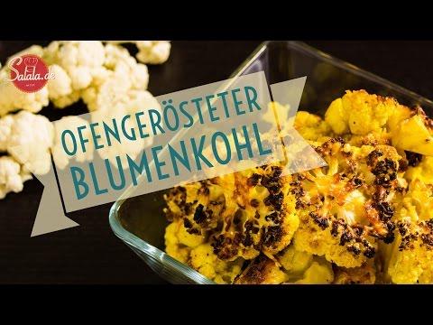 ofengerösteter Blumenkohl - Low Carb Beilage - salala.de