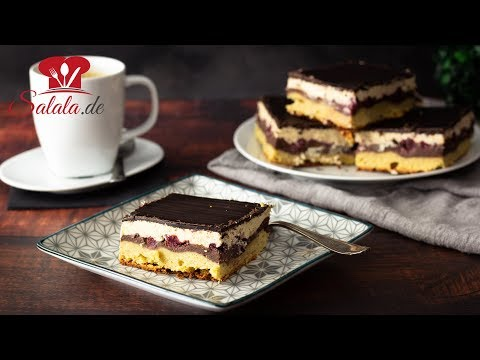 Leckere Low Carb Donauwelle ohne Zucker und glutenfrei I Rezept mit selbstgemachtem Low Carb Pudding