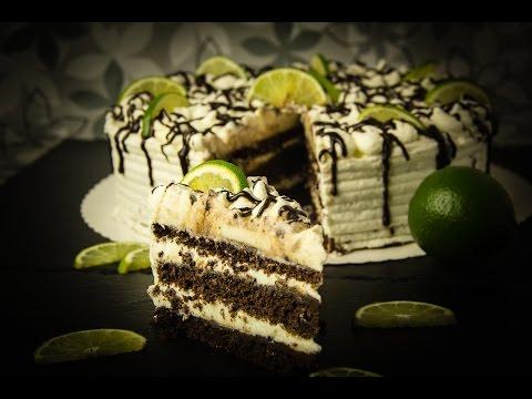 Schoko Limetten Torte - Low Carb - glutenfrei - Muttertag - salala.de