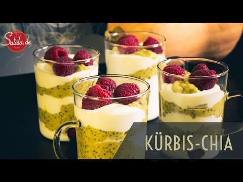 Kürbis Chia Frühstück Low Carb glutenfrei zuckerfrei - salala.de