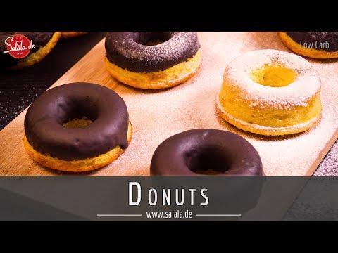 Donuts ohne Mehl und ohne Zucker Low Carb