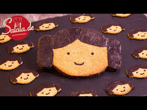 """Leia Cookies """"May the Fourth"""" ohne Zucker Star Wars I Low Carb backen Rezept"""