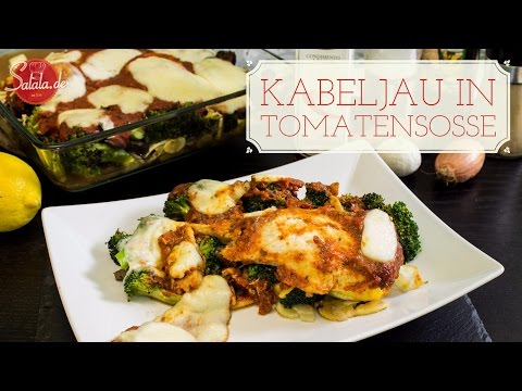 Kabeljau in Tomatensoße - Fischauflauf - Low Carb Abendessen - salala.de