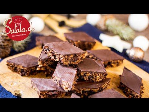 Schokoladenbrot ohne Mehl und ohne Zucker zu Weihnachten I Low Carb Rezept