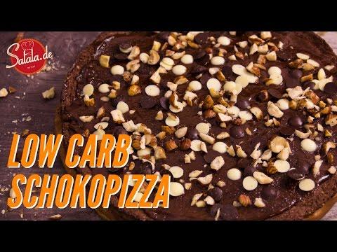 Schokopizza wie von Dr. Oetker selber machen Low Carb ohne Zucker