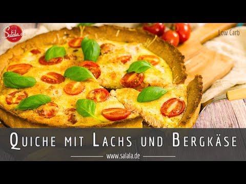 Quiche mit Lachs Bergkäse und Tomaten Rezept ohne Mehl Low Carb