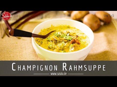 Champignon Creme Suppe Rezept ohne Mehl Low Carb