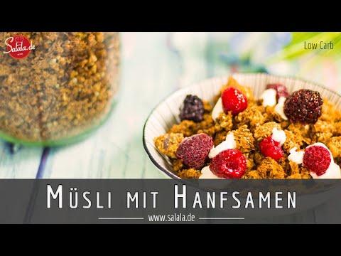 Müsli selber machen Low Carb und glutenfrei mit Hanfsamen salala.de