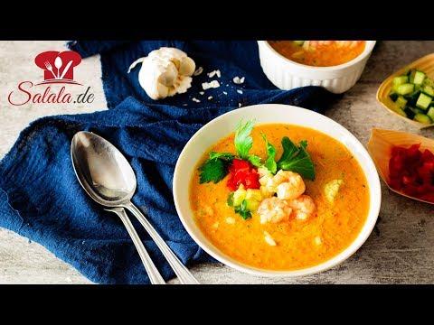 Gazpacho Low Carb Rezept für kalte Suppe einfach im Thermomix selber machen
