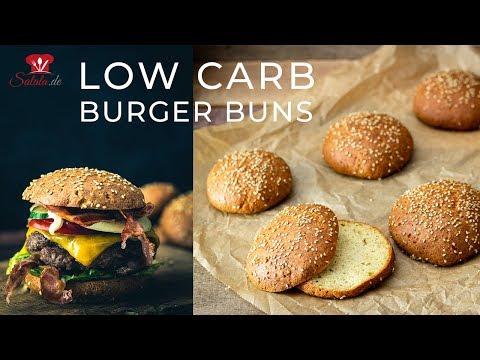 Extrem leckere Low Carb Burgerbrötchen mit perfekter Krume backen I Burger Bun Rezept