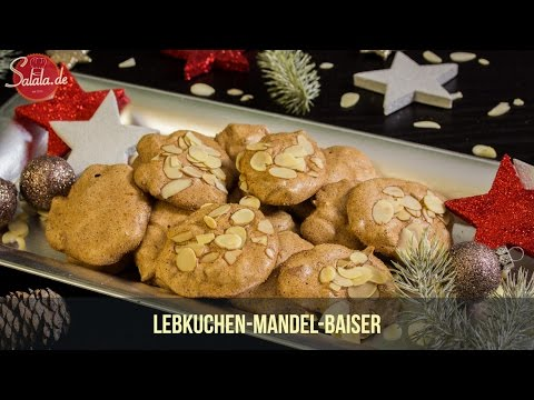 Lebkuchen-Mandel-Baiser Low Carb backen zuckerfrei Weihnachtsbäckerei salala.de