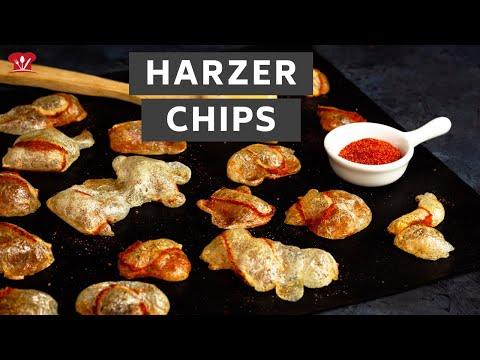Harzer Chips 🥟 // KETO Rezept mit wenig Kalorien // Harzer Käsechips mit leckerer Würzmischung