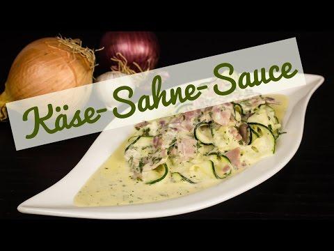 Käse Sahne Soße - Low Carb Nudelgericht - glutenfrei - schnell und einfach - salala.de