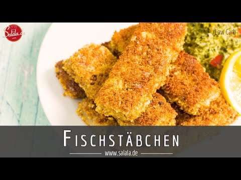 Fischstäbchen selber machen Low Carb mit knuspriger Panade Rezept und glutenfrei salala.de