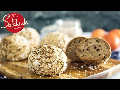 Keto Brotbällchen mit Kümmel und Salz I Low Carb und Keto Brotrezept