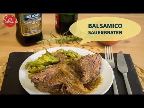 Balsamico Sauerbraten - einfacher Sauerbraten - Low Carb kochen - Hauptgericht - salala.de