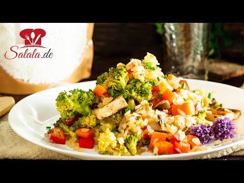 Reispfanne mit Gemüse aus Shileo Konjakreis I Low Carb Rezept
