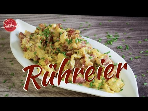 Rühreier extrem lecker und saftig - Rührei - Low Carb kochen - salala.de