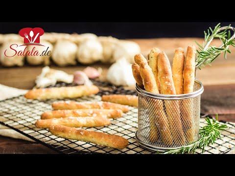 Brotstangen mit Knoblauch 🥖 // KETO Rezept // aus Fathead Teig // Low Carb und glutenfrei backen