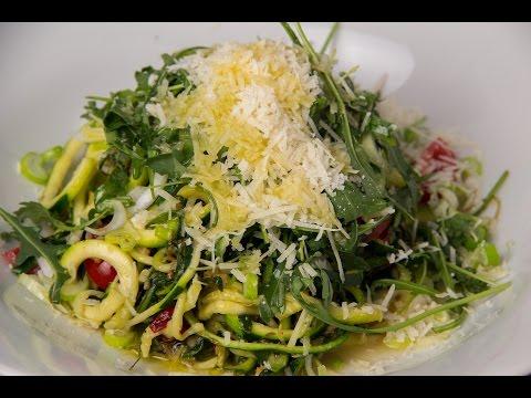 Wild Rocket Chili Spaghetti Zudeln - 1000 Abo Special - Low Carb Vegetarisch glutenfrei - salala.de
