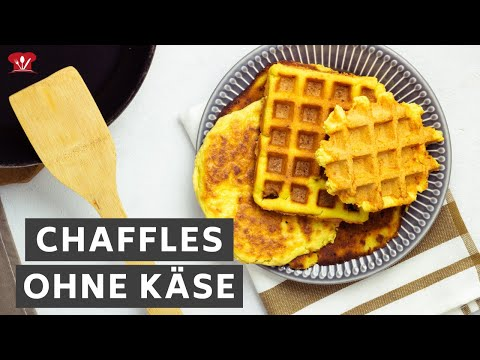 Chaffles OHNE Mozzarella 🧇 // KETO Waffel Grundrezept // ohne Milchprodukte