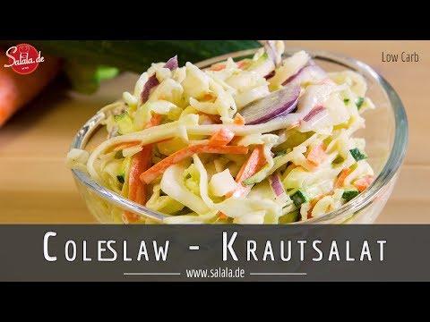 Coleslaw Krautsalat schnell und einfach selber machen - salala de - Low Carb