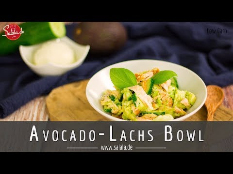Avocado Lachs Bowl schnelles Keto Mittagessen Rezept