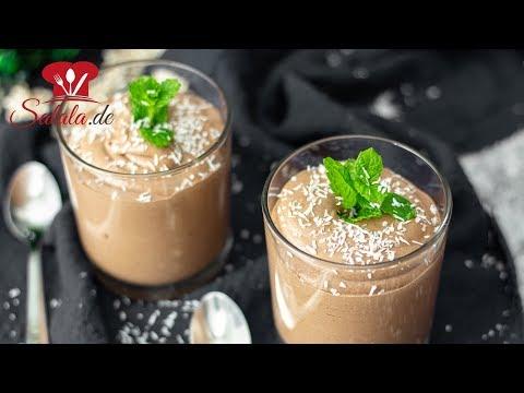 Keto Schoko Kokos Paradiescreme I Fettfasten und Low Carb Dessert Rezept