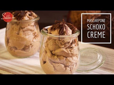 Schoko Mascarpone Kaffee Creme - Low Carb Nachspeise - salala.de