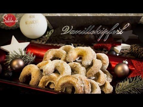 Vanillekipferl backen - Low Carb backen glutenfrei zuckerfrei - salala.de Weihnachtsbäckerei